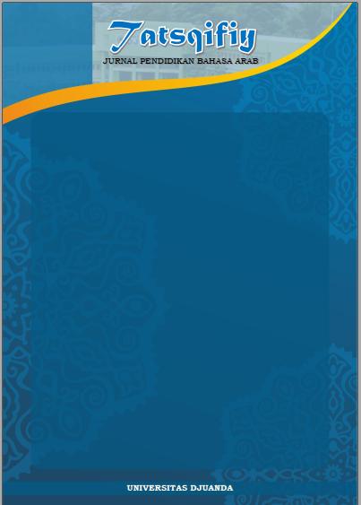 Tatsqifiy: Jurnal Pendidikan Bahasa Arab